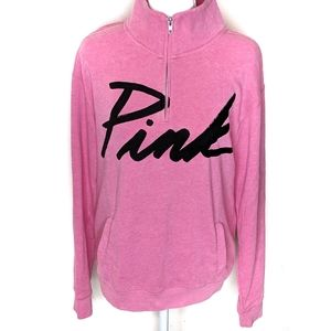 VS PINK | Hot Pink Zip Pullover Sweater
